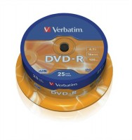 DVD-R VERBAT cake/25ks 4,7GB